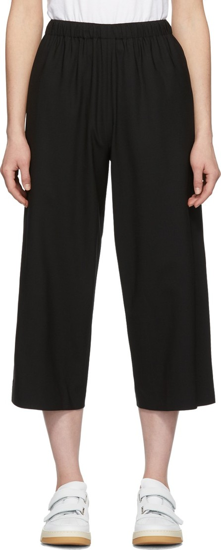 6397 Black Pull-On Tropical Wool Trousers