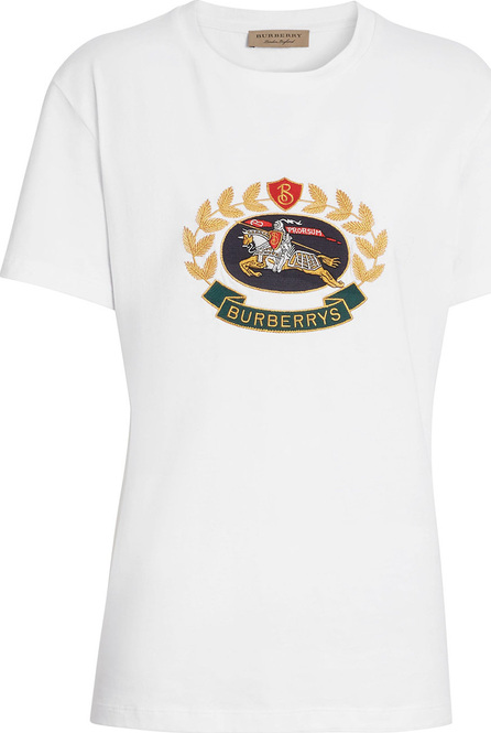 Burberry London England Embroidered Archive Logo Cotton T-shirt