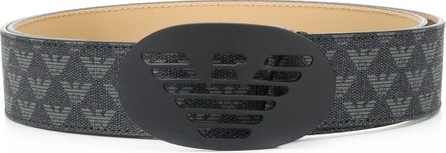 Emporio Armani Monogram buckle belt