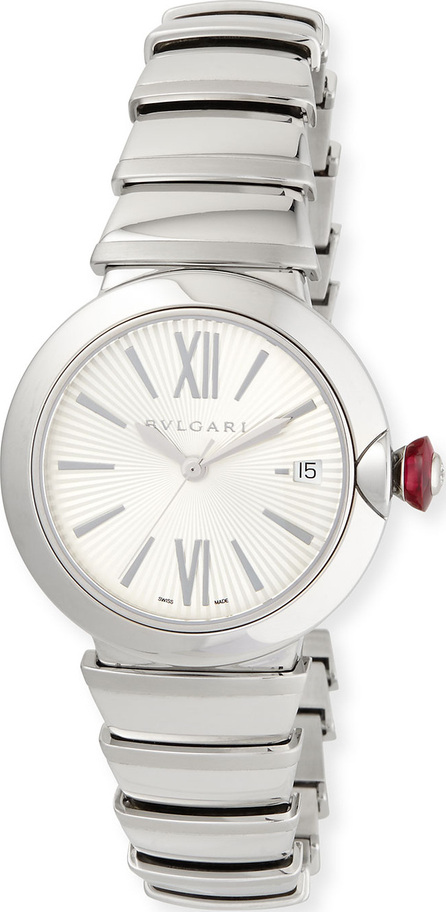 BVLGARI 36mm LVCEA Stainless Steel Watch