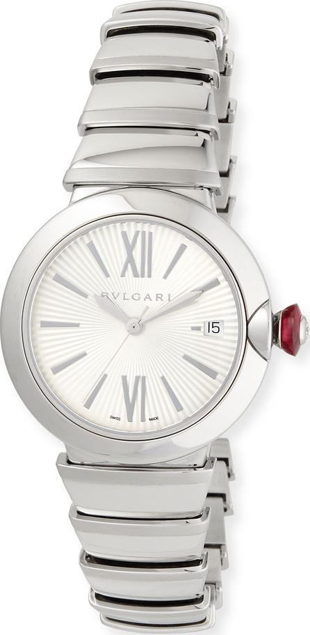 BVLGARI 36mm LVCEA Stainless Steel Watch