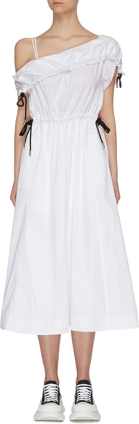 3.1 Phillip Lim One shoulder parachute utility flared midi dress