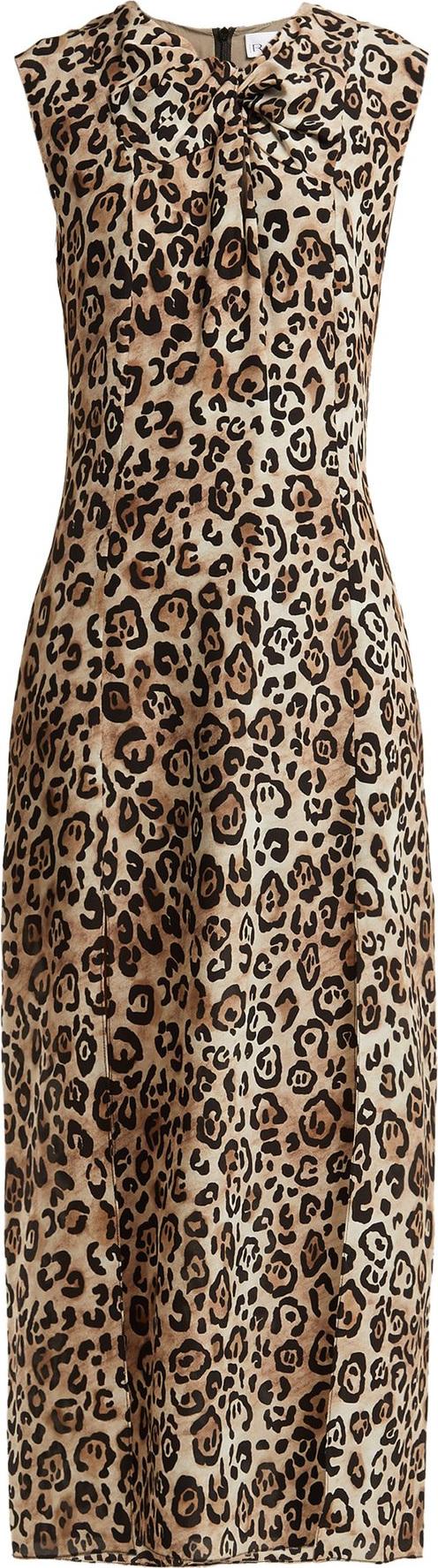 bc289cd21a Raey Knot-front leopard-print silk dress - Mkt