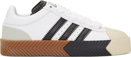 Adidas Originals by Alexander Wang White Skate Super Sneakers