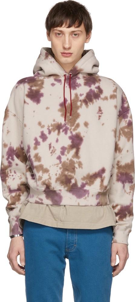 Eckhaus Latta Beige Dirty Dye Hoodie