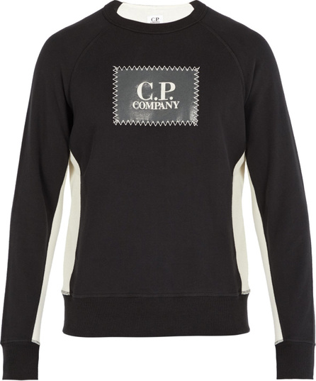 C.P. Company Logo-patch cotton sweatshirt