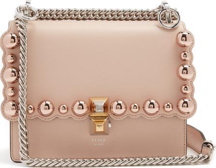 Fendi Kan I small embellished leather cross-body bag