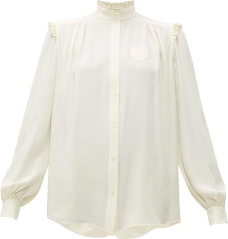Nº21 Ruffle-trimmed crepe blouse