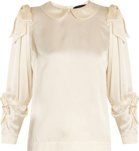 Simone Rocha Bow-tied satin blouse