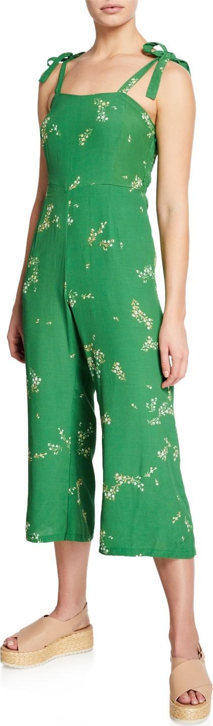 FAITHFULL Elsa Floral-Print Sleeveless Crop Jumpsuit