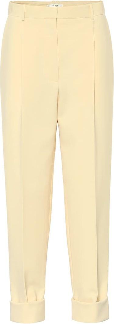THE ROW Marta high-rise cady pants