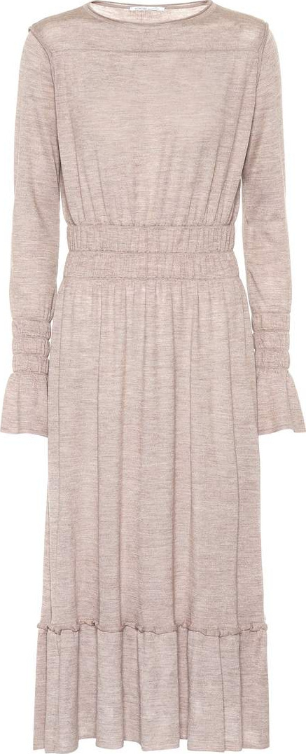 Agnona Wool, silk and cashmere-blend dress
