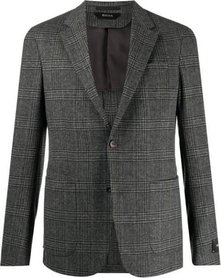 Z Zegna Single-breasted check blazer