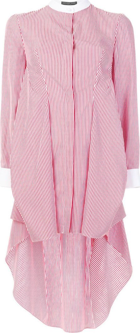 Alexander McQueen Long line striped shirt