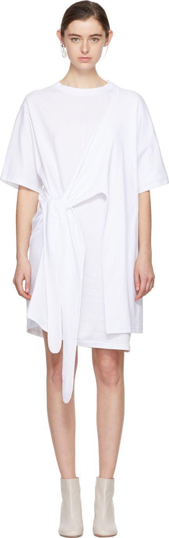 Acne Studios White Lylia T-Shirt Dress