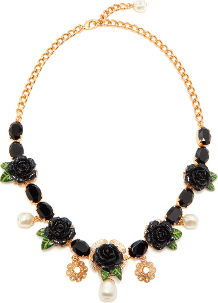 Dolce & Gabbana Rose and crystal-embellished necklace