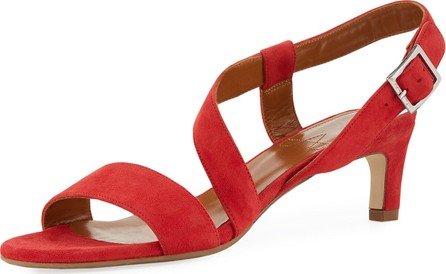 Aquatalia Tana Strappy Suede Sandals