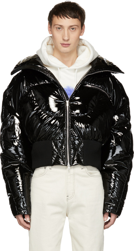 Chen Peng Black Down Banana Jacket