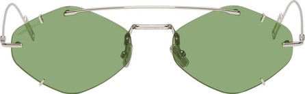 Dior Homme Silver & Green DiorInclusion Sunglasses