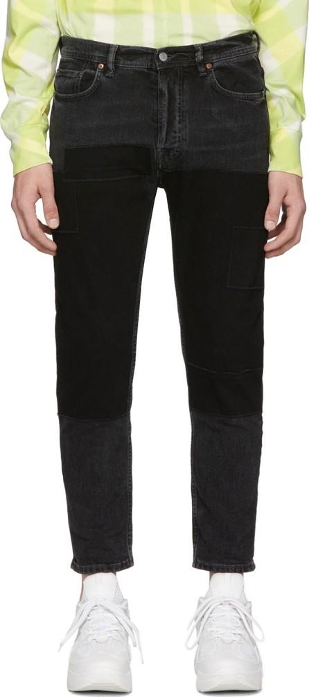 Acne Studios Black Blå Konst River Patch Jeans