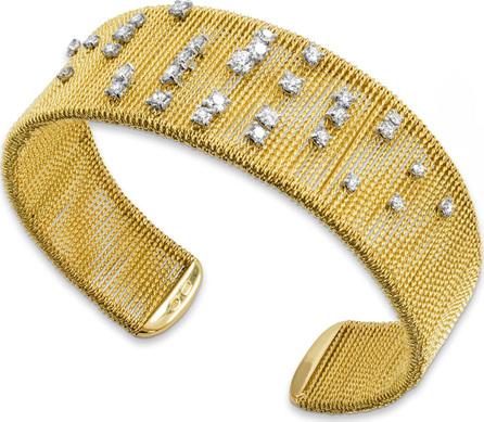 Staurino Fratelli 18k Gold Renaissance Dancing Diamond Cuff Bracelet