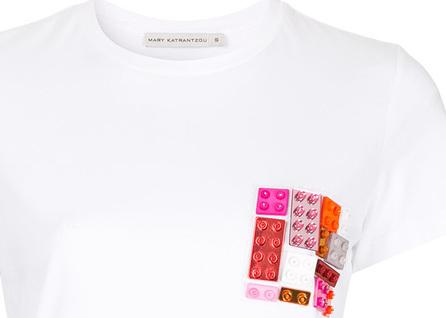 Mary Katrantzou Lego embellished T-shirt