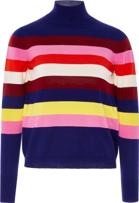 DELPOZO Striped Mohair-Blend Sweater