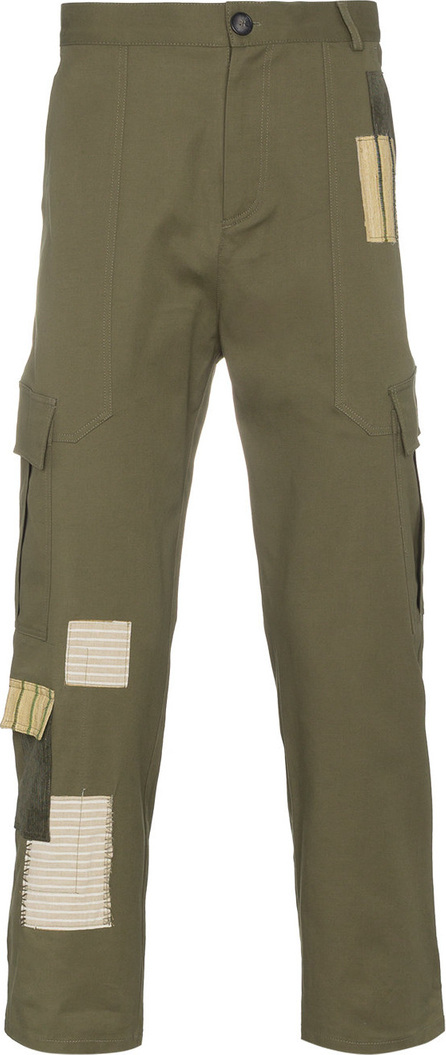 78 Stitches Green patchwork combat trousers