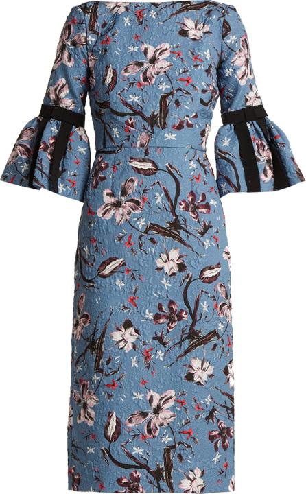 Erdem Alexandra Tulip Dream floral-print cloqué dress