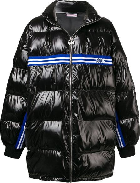 Gcds Logo stripe padded coat