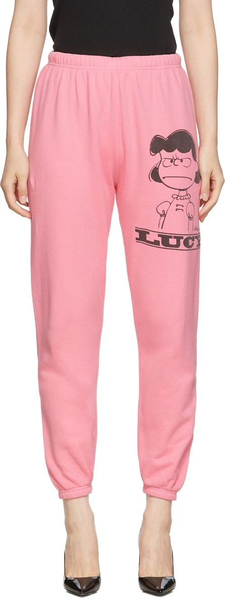 MARC JACOBS Pink Peanuts Edition 'The Gym' Lucy Lounge Pants