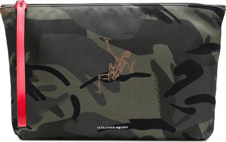 Alexander McQueen Camouflage print clutch bag