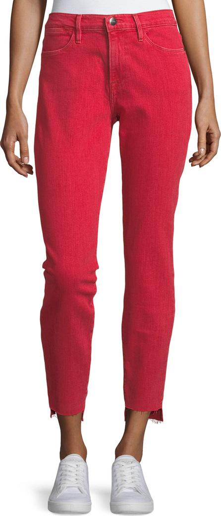 FRAME DENIM Le High Skinny-Leg Jeans with Raw Stagger Hem