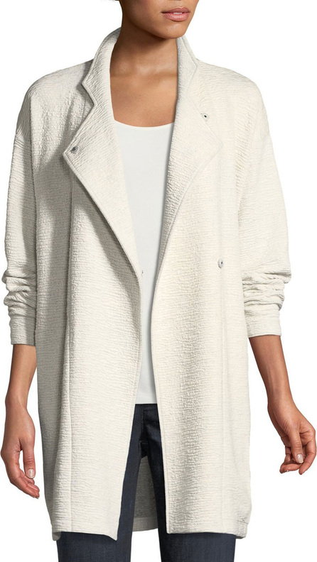 Eileen Fisher Double-Knit Jacquard Kimono Jacket