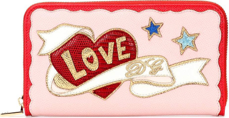 Dolce & Gabbana Embroidered leather wallet