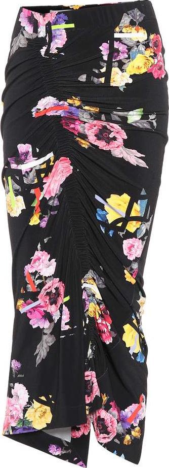 Preen Cosmia floral-printed skirt