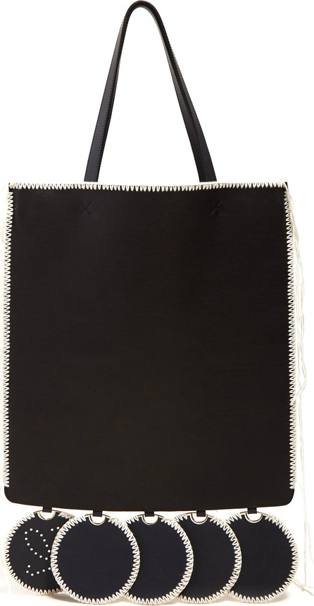 LOEWE Gate whip-stitched leather tote bag