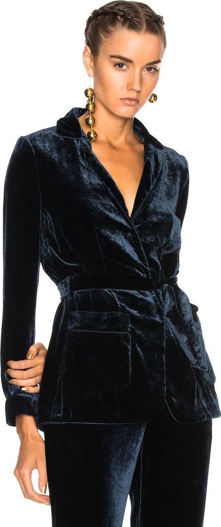 Alberta Ferretti Velvet Wrap Jacket