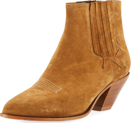 Golden Goose Deluxe Brand Sunset Suede Cowboy Ankle Boot
