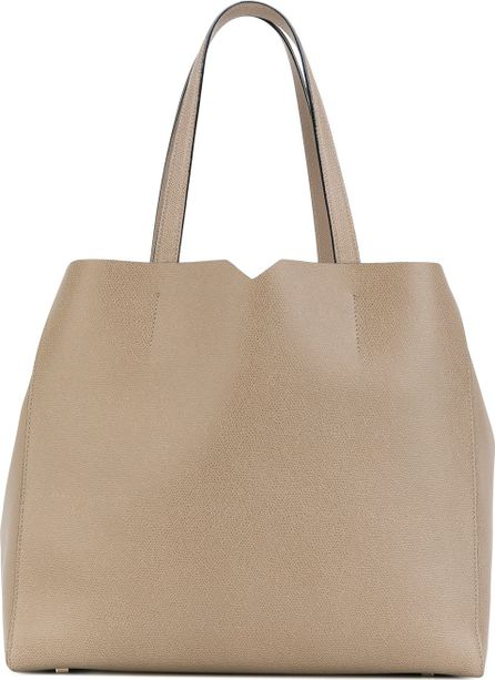 Valextra cut-out V detail tote
