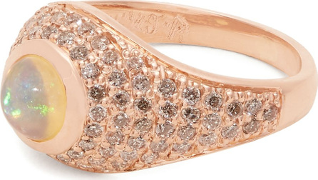 Jacquie Aiche Diamond, opal & rose-gold signet ring