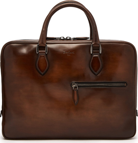 Berluti Venezia-leather briefcase