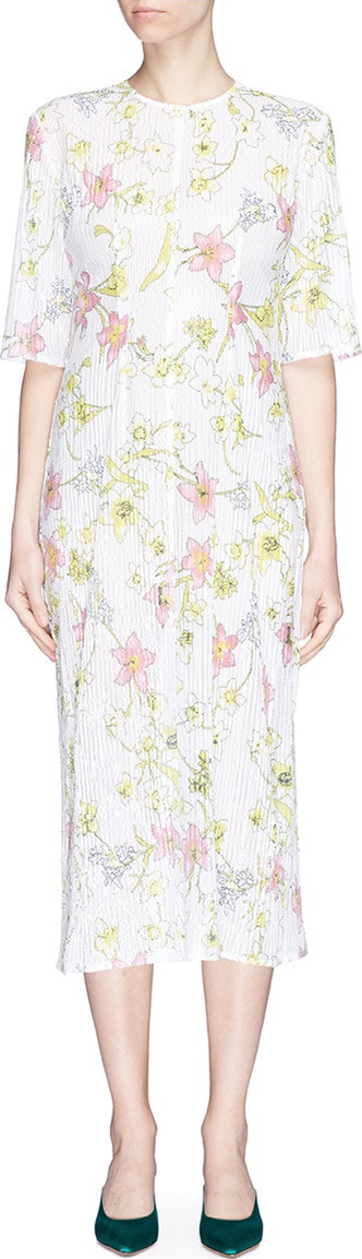 Georgia Alice 'Pageant' floral print sequin mesh midi dress