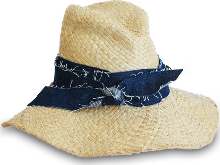 Lola Hats First Aid Denim Band Straw Hat