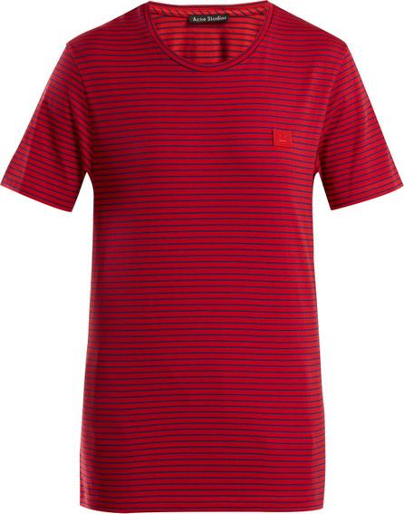 Acne Studios Nele Face striped cotton T-shirt
