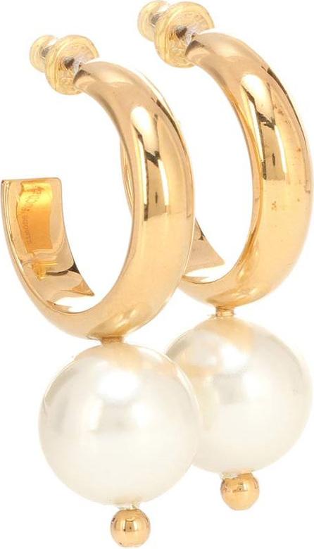 Simone Rocha Faux pearl hoop earrings