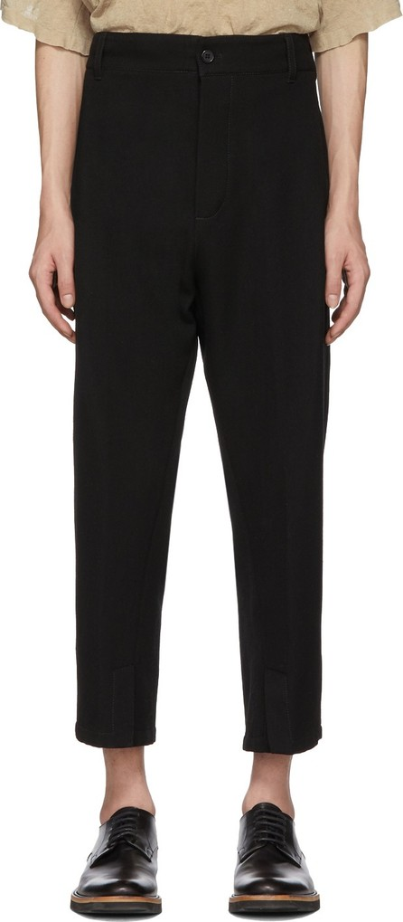 Ann Demeulemeester Black Wool Fleece Trousers