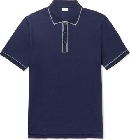 Brioni Contrast-Tipped Mercerised Cotton-Piqué Polo Shirt