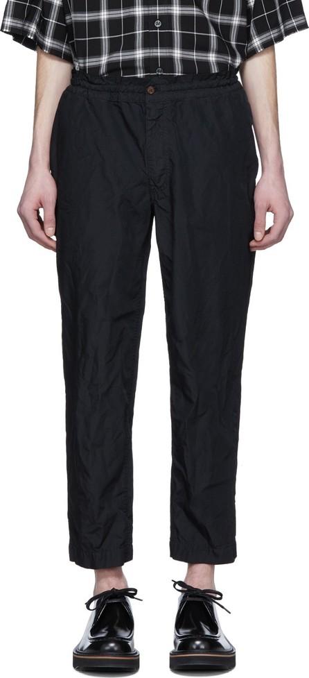 Comme des Garçons Homme Deux Black Taffeta Elastic Waist Trousers