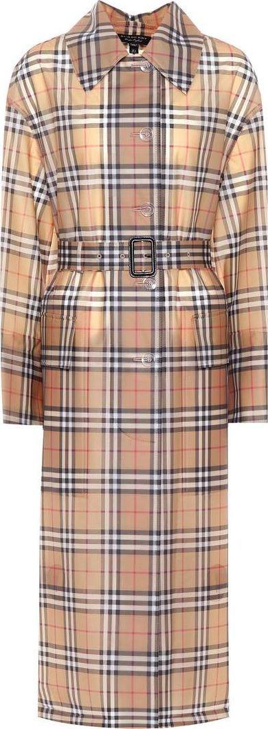 Burberry London England Checked plastic coat